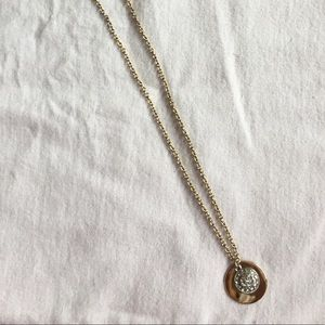 Express gold and silver necklace